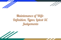 Maintainence of Wife