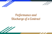 Performance of a Contract
